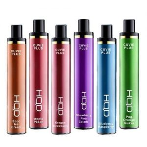 HQD | Cuvie Plus Disposable Nicotine Vape | 1200 Puffs | 32 Flavours Available